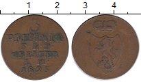 Изображение Монеты Германия Рейсс-Оберграйц 3 пфеннига 1825 Медь XF-