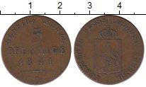 Изображение Монеты Рейсс-Шляйц 3 пфеннига 1841 Медь VF