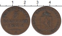 Изображение Монеты Рейсс-Шляйц 3 пфеннига 1844 Медь VF