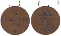 Изображение Монеты Германия Рейсс-Шляйц 1/2 пфеннига 1841 Медь XF