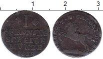 Изображение Монеты Брауншвайг-Вольфенбюттель 1 пфенниг 1818 Медь VF Карл II