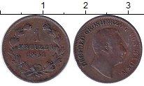 Изображение Монеты Германия Баден 1 крейцер 1851 Медь XF-