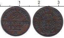 Изображение Монеты Германия Пруссия 2 пфеннига 1847 Медь XF