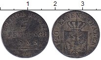 Изображение Монеты Германия Пруссия 3 пфеннига 1835 Медь VF