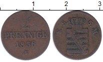 Изображение Монеты Саксония 2 пфеннига 1856 Медь XF-
