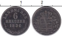 Изображение Монеты Германия Саксен-Майнинген 6 крейцеров 1836 Серебро VF
