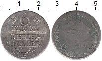 Изображение Монеты Пруссия 1/6 талера 1768 Серебро VF