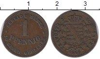Изображение Монеты Германия Саксен-Кобург-Готта 1 пфенниг 1868 Медь XF-