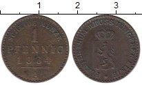 Изображение Монеты Рейсс-Шляйц 1 пфенниг 1864 Медь VF