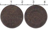 Изображение Монеты Росток 3 пфеннига 1855 Медь VF