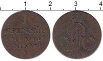 Изображение Монеты Германия Ганновер 1 пфенниг 1828 Медь XF