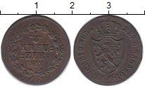 Изображение Монеты Германия Нассау 1/4 крейцера 1812 Медь VF