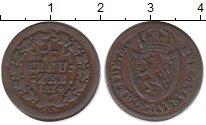Изображение Монеты Германия Нассау 1/4 крейцера 1814 Медь XF