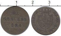 Изображение Монеты Германия Нассау 3 крейцера 1826 Серебро XF-