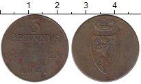 Изображение Монеты Германия Рейсс-Оберграйц 3 пфеннига 1821 Медь VF