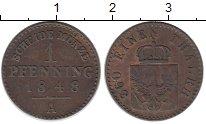 Изображение Монеты Германия Пруссия 1 пфенниг 1848 Медь XF