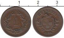 Изображение Монеты Швейцария 1 рапп 1895 Медь XF