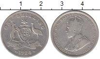 Изображение Монеты Австралия 1 шиллинг 1924 Серебро VF