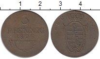 Изображение Монеты Германия Саксен-Кобург-Саалфелд 3 пфеннига 1825 Медь XF