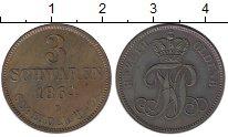 Изображение Монеты Германия Ольденбург 3 шварена 1864 Медь XF