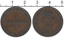 Изображение Монеты Мекленбург-Шверин 5 пфеннигов 1872 Медь XF