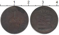 Изображение Монеты Германия Саксония 1 пфенниг 1825 Медь VF