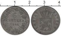 Изображение Монеты Германия Бавария 6 крейцеров 1842 Серебро XF-
