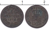 Изображение Монеты Гессен-Дармштадт 1 крейцер 1872 Серебро XF-