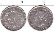 Изображение Монеты Канада 5 центов 1881 Серебро XF-