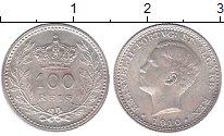 Изображение Монеты Португалия 100 рейс 1910 Серебро UNC- Эмануил II