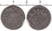 Изображение Монеты Италия 5 болоньино 1742 Серебро VF+