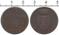 Изображение Монеты Германия Рейсс-Оберграйц 3 пфеннига 1826 Медь VF