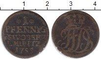 Изображение Монеты Саксен-Веймар-Эйзенах 1 пфенниг 1755 Медь VF