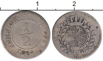 Изображение Монеты Вюртемберг 1/2 крейцера 1834 Серебро XF-