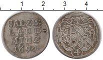 Изображение Монеты Германия Зальцбург 4 крейцера 1692 Серебро XF-