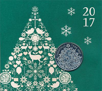 Изображение Подарочные монеты Великобритания 5 фунтов 2017 Медно-никель BUNC Елизавета II.  Тради