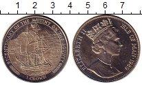 Изображение Монеты Остров Мэн 1 крона 1989 Медно-никель UNC Елизавета II.  200 -