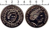 Изображение Монеты Гернси 5 фунтов 2001 Медно-никель UNC 75 лет Елизавета II