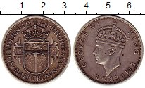 Изображение Монеты Родезия 1/2 кроны 1940 Серебро XF Георг VI