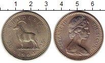 Изображение Монеты Родезия 25 центов 1964 Медно-никель XF+ Козел,Елизавета II