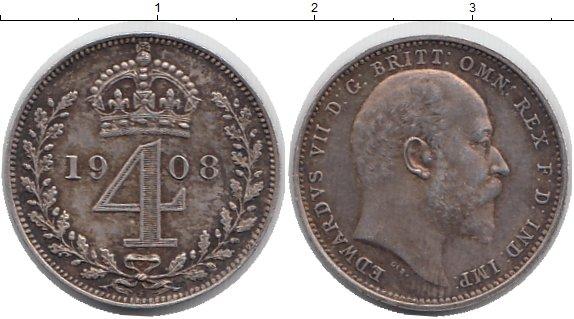 Картинка Монеты Великобритания 4 пенса Серебро 1908