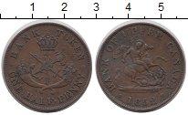 Изображение Монеты Канада 1/2 пенни 1852 Медь XF-