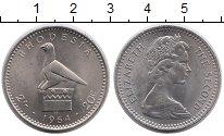 Изображение Монеты Родезия 20 центов 1964 Медно-никель UNC- Елизавета II