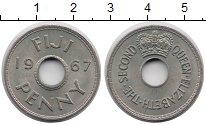 Изображение Монеты Фиджи 1 пенни 1967 Медно-никель XF+