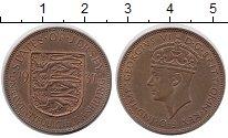 Изображение Монеты Остров Джерси 1/24 шиллинга 1937 Бронза XF Георг VI