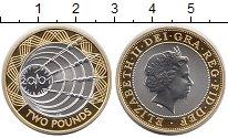 Изображение Монеты Великобритания 2 фунта 2001 Серебро Proof