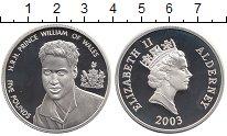 Изображение Монеты Остров Джерси 5 фунтов 2003 Серебро Proof- Принц Уильям