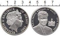 Изображение Монеты Остров Джерси 5 фунтов 2003 Серебро Proof Принц Уильям