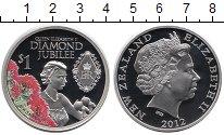 Изображение Монеты Новая Зеландия 1 доллар 2012 Серебро Proof