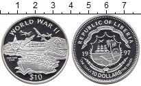 Изображение Монеты Либерия 10 долларов 1997 Серебро Proof-